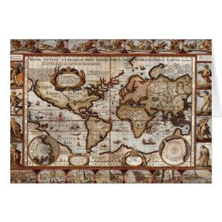 Serie antigua de la tarjeta del mapa de Viejo