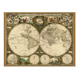 Serie antigua del mapa postal