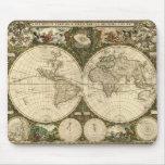 Serie antigua del mapa tapete de ratones