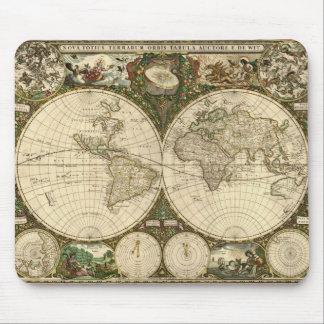Serie antigua del mapa tapetes de raton