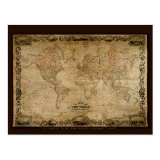 Serie antigua del mapa tarjetas postales