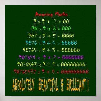 Serie asombrosa 3 de la matemáticas póster