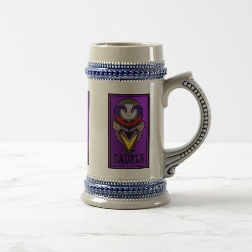Serie astrológica enmarañada taza de café