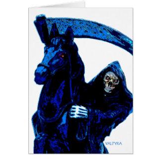 Serie azul de neón del jinete del parca por Valpyr Tarjeta De Felicitación
