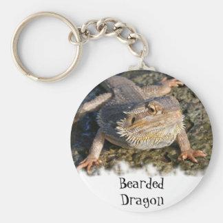 Serie barbuda del dragón llaveros personalizados