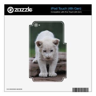 Serie blanca del cachorro de león del bebé iPod touch 4G calcomanías