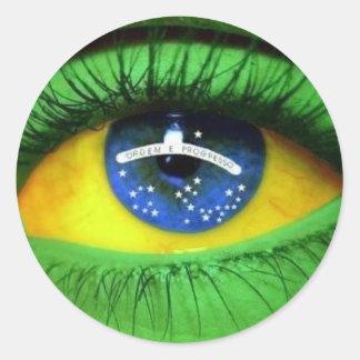 Serie Brasil Classic Round Sticker
