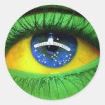 Serie Brasil Round Sticker