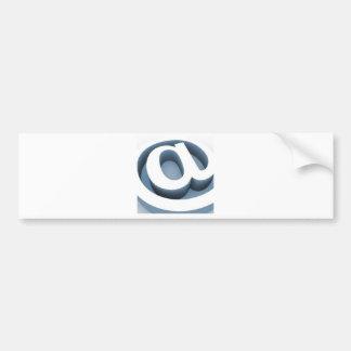 Serie @ car bumper sticker