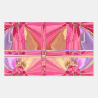 Serie color de rosa 2012 de la celebración del rectangular pegatina