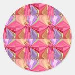 Serie color de rosa 2012 de la celebración del etiquetas redondas