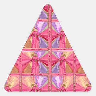 Serie color de rosa 2012 de la celebración del pegatina triangular