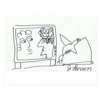 Serie cómica de los cerebros del pájaro postal