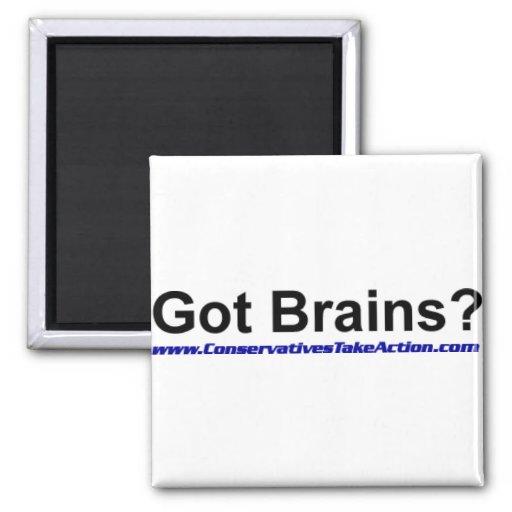 Serie conseguida de los cerebros iman de nevera