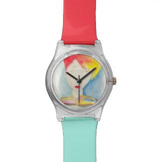 Serie cristalino del chica, maya relojes