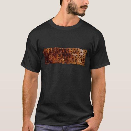 Serie CUNEIFORME SUMERIA de la camiseta de la