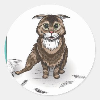serie dañosa del gato de Ben Jones Etiqueta Redonda