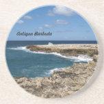 Serie de Antigua Barbuda--Práctico de costa cercan Posavasos Diseño