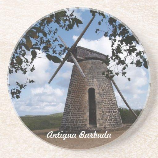 Serie de Antigua Barbuda--Práctico de costa de la  Posavasos De Arenisca