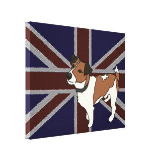 Serie de Britannia: Milo Jack Russell Impresión En Lona Estirada