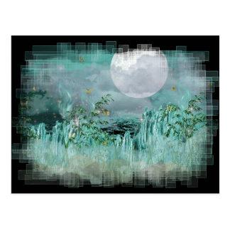 Serie de cristal azul de la noche tarjetas postales