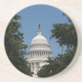 Serie de DC---Edificio del capitolio de los E.E.U. Posavasos Personalizados