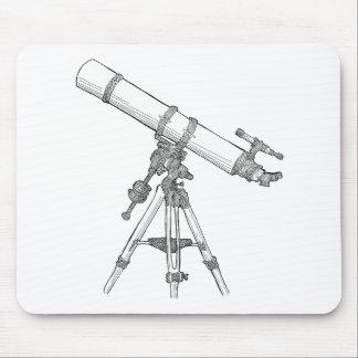 Serie de dibujo del telescopio alfombrilla de raton