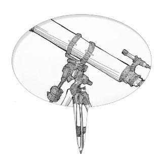Serie de dibujo del telescopio decoraciones para tartas