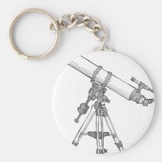 Serie de dibujo del telescopio llaveros personalizados