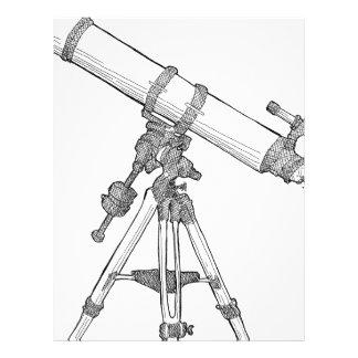 Serie de dibujo del telescopio plantilla de membrete
