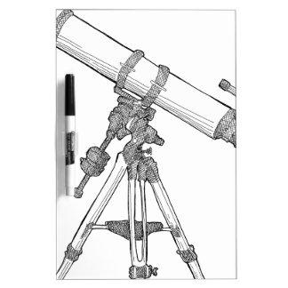 Serie de dibujo del telescopio pizarras