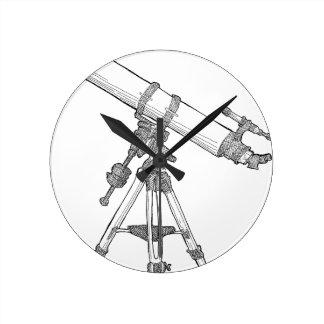 Serie de dibujo del telescopio relojes