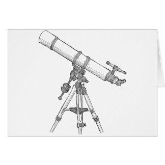 Serie de dibujo del telescopio tarjetón