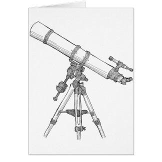 Serie de dibujo del telescopio felicitacion