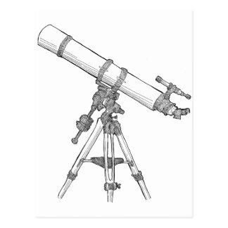 Serie de dibujo del telescopio postal