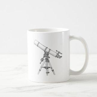 Serie de dibujo del telescopio tazas