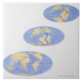 Serie de ejemplos de la tierra 200 millones azulejos ceramicos