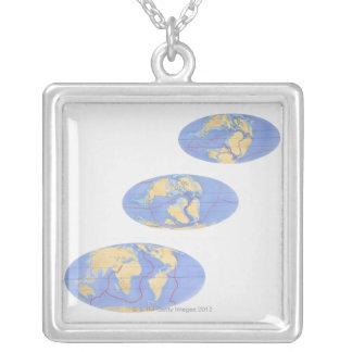 Serie de ejemplos de la tierra 200 millones collar plateado