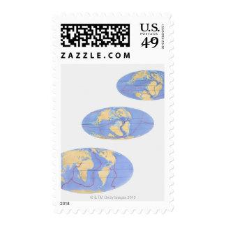 Serie de ejemplos de la tierra 200 millones sellos