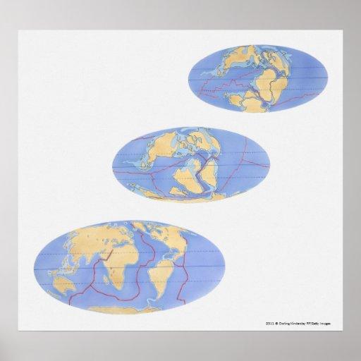 Serie de ejemplos de la tierra póster