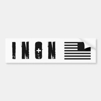 Serie de INON 1 pegatina para el parachoques Pegatina De Parachoque