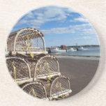 Serie de la cabaña de la langosta---Barcos y tramp Posavasos Manualidades