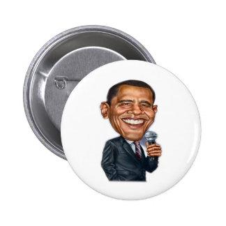 Serie de la caricatura de Barack Obama Pin Redondo De 2 Pulgadas
