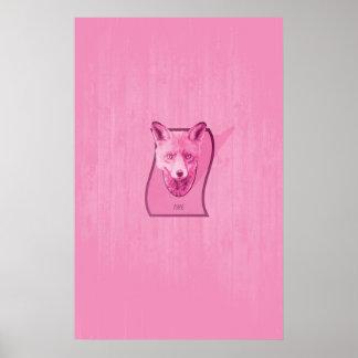Serie de la caza - la cabeza rosada del Fox Impresiones