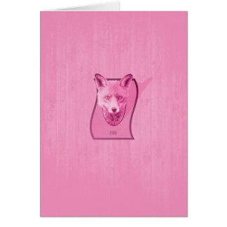 Serie de la caza - la cabeza rosada del Fox Tarjeta De Felicitación