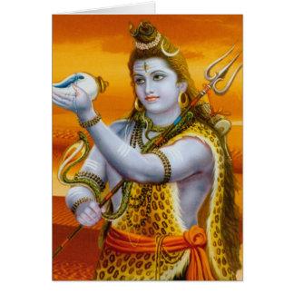 Serie de la deidad hindú de señor Shiva Tarjeta De Felicitación