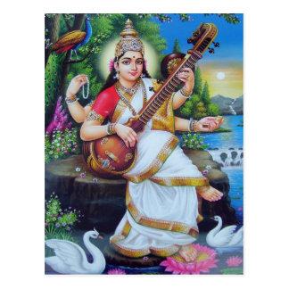 Serie de la deidad hindú postal
