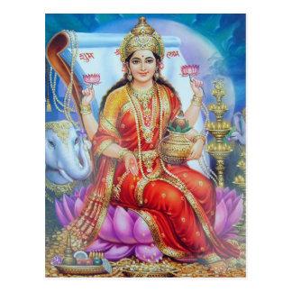 Serie de la deidad hindú postales
