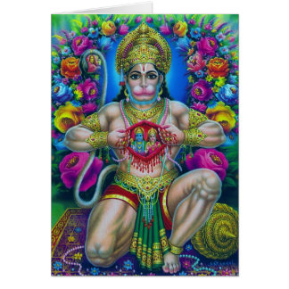 Serie de la deidad hindú tarjeta de felicitación