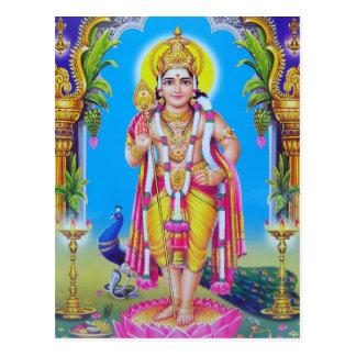 Serie de la deidad hindú tarjetas postales